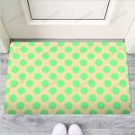 Cream And Teal Polka Dot Funny Outdoor Indoor Wellcome Funny Outdoor Indoor Wellcome Doormat