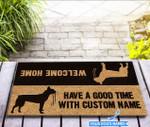 Have a good time - Boston Terrier Funny Outdoor Indoor Wellcome Doormat