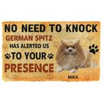 Gearhuman 3D No Need To Knock German Spitz Dog Custom Name Doormat