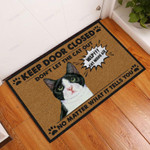 Do Not Let The Cat Out Doormat  Welcome Mat