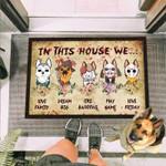 German Shepherd Dog Horror Squad Funny Outdoor Indoor Wellcome Doormat