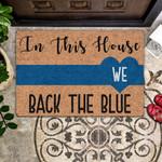 Lovers  Door Mat We Back The Blue