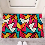 Abstract Geometric Colorful Funny Outdoor Indoor Wellcome Funny Outdoor Indoor Wellcome Doormat