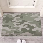Grey And Green Camouflage Print Funny Outdoor Indoor Wellcome Funny Outdoor Indoor Wellcome Doormat