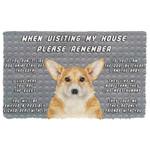 Alohazing 3D Please Remember Pembroke Welsh Corgi Dogs House Rules Doormat