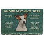 Gearhuman 3D Jack Russell Terrier Welcome To My House Rules Custom Doormat