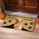 All Guests Must Be Labrador Retriever Funny Outdoor Indoor Wellcome Doormat