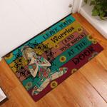 Door Mat Yoga Leaves Worries At The Door