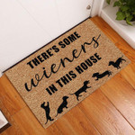 Door Mat Theres Some Wieners In This House