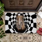 Farm Animals Illusion - Horse Funny Outdoor Indoor Wellcome Doormat