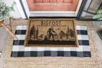 Bigfoot Doormat - Top Secret Drinking Club Doormat  Welcome Mat  House Warming Gift