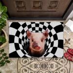 Farm Animals Illusion - Pig Funny Outdoor Indoor Wellcome Doormat
