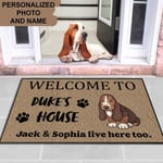 BASSET HOUND Funny Outdoor Indoor Wellcome Doormat