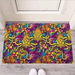 Hippie Flame Psychedelic Trippy Funny Outdoor Indoor Wellcome Funny Outdoor Indoor Wellcome Doormat