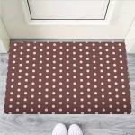 Brown Tiny Polka Dot Funny Outdoor Indoor Wellcome Funny Outdoor Indoor Wellcome Doormat