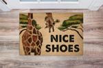Lovers  Door Mat Giraffe Nice Shoes Coir Pattern