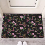 Floral Janpanese Dragon Print Funny Outdoor Indoor Wellcome Funny Outdoor Indoor Wellcome Doormat