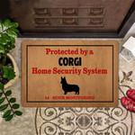 Corgi Doormat Protected By Corgi Home Security System Doormat Hobby Lobby Door Mat Family Gift