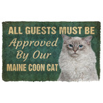 3D Must Be Approved By Our Maine Coon Cat Custom Doormat