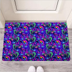 Blue Psychedelic Funny Outdoor Indoor Wellcome Funny Outdoor Indoor Wellcome Doormat