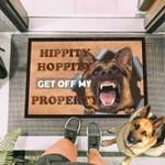 Get Off My Property German Shepherd Funny Outdoor Indoor Wellcome Doormat