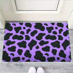 Black And Purple Cow Print Funny Outdoor Indoor Wellcome Funny Outdoor Indoor Wellcome Doormat