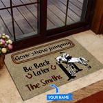 Gone Show Jumping Funny Outdoor Indoor Wellcome Doormat