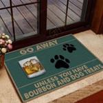 Bourbon And Dog Treats Funny Outdoor Indoor Wellcome Doormat