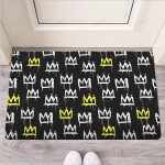 Graffiti Hiphop White And Yellow Crown Print Funny Outdoor Indoor Wellcome Funny Outdoor Indoor Wellcome Doormat