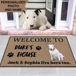 Bull terrier Dog Funny Outdoor Indoor Wellcome Doormat - Funny Outdoor Indoor Wellcome Doormat