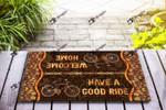 Balloon tire bike - Have a good ride Funny Outdoor Indoor Wellcome Doormat