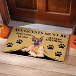 All Guests Must Be German Shepherd Funny Outdoor Indoor Wellcome Doormat