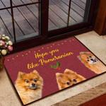 Hope you like pomeranian Dog Funny Outdoor Indoor Wellcome Doormat