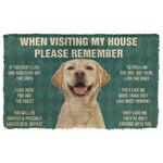 3D Please Remember Labrador Retriever Dogs House Rules Doormat