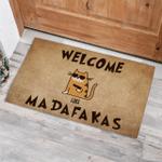 Cool Cat Welcome Madafakas Funny Outdoor Indoor Wellcome Doormat
