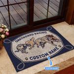 Greyhound Racing Funny Outdoor Indoor Wellcome Doormat