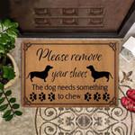 Dachshund Funny Outdoor Indoor Wellcome Doormat Please Remove Your Shoes Funny Outdoor Indoor Wellcome Doormat