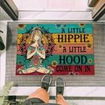 Hippie A Little Hippie A Little Hood Funny Outdoor Indoor Wellcome Doormat