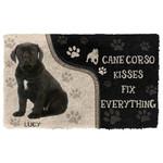 3D Cane Corso Kisses Fix Anything Custom Name Doormat