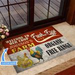 Chicken Freshegg Farm Funny Outdoor Indoor Wellcome Doormat