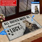 Cat - All Guests must be Funny Outdoor Indoor Wellcome Doormat