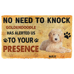 Gearhuman 3D No Need To Knock Goldendoodle Dog Custom Name Doormat