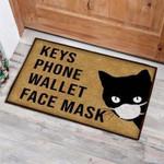 Cat Keys Phone Wallet Face Mask Funny Outdoor Indoor Wellcome Doormat