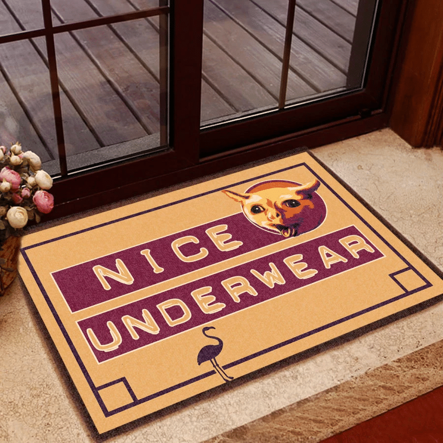 Funny Rubber Door Mat   Nice Underwear