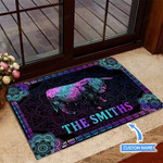 Highland Cow Funny Outdoor Indoor Wellcome Doormat