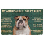 Gearhuman 3D My American Bulldogs Rules Doormat