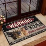 German Shepherd highly trained warning Funny Outdoor Indoor Wellcome Doormat