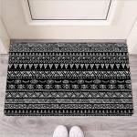 Black And White Doodle Tribal Aztec Print Funny Outdoor Indoor Wellcome Funny Outdoor Indoor Wellcome Doormat