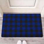 Blue Buffalo Plaid Funny Outdoor Indoor Wellcome Funny Outdoor Indoor Wellcome Doormat