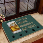 Hope You Brought Bourbon And Dog Treats Funny Outdoor Indoor Wellcome Doormat